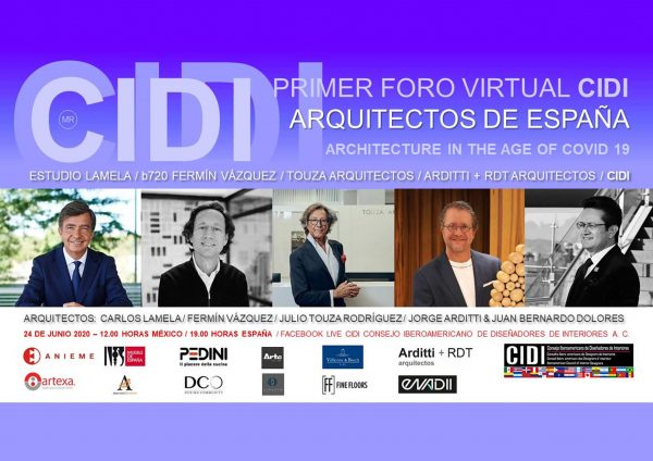 First Virtual Forum CIDI 2020 - Architects of Spain - Architecture in the Age of Covid 19
